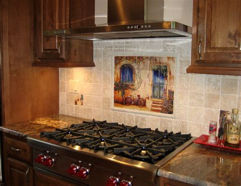 Country Kitchen Tile Backsplash : Tile Wall Murals And Backsplashes Of France And French