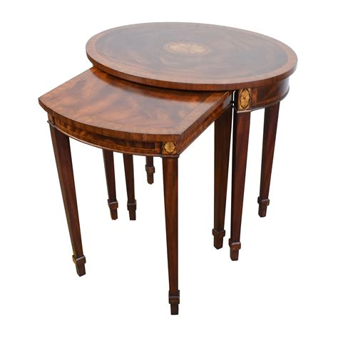 second hand table ls 43 off antique reproduction wood nesting side tables