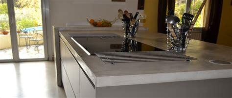 beton ciré cuisine plan travail béton ciré pour sol murs et meubles idée déco et tuto