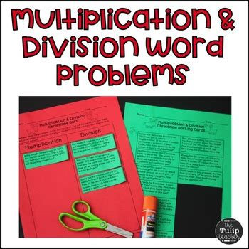 John has three times as many apples as sally. Christmas Multiplication and Division Word Problem Sort by The Tulip Teacher