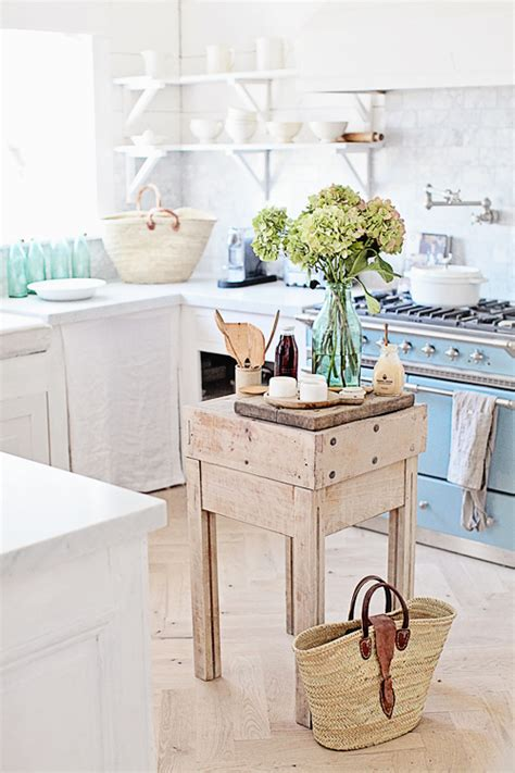 white sun drenched french country kitchen