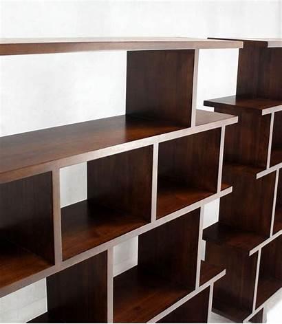 Open Dividers Bookcases Shelves Units Pair Case