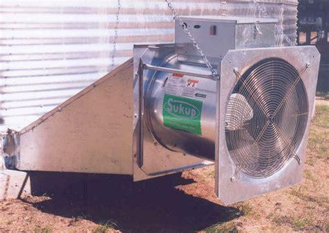 12 grain bin fan devolder farms grain aeration