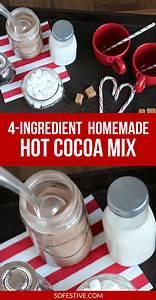 How to Make Homemade Hot Cocoa Mix - So Festive