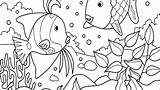 Aquarium Coloring Fish Pages Ocean Ecosystem Tank Drawing Habitat Printable Animal Pa Getcolorings Drawings Getdrawings Colorings sketch template