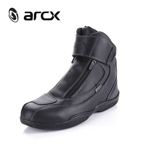 motorcycle street racing boots best arcx motorcycle boots genuine cow leather waterproof
