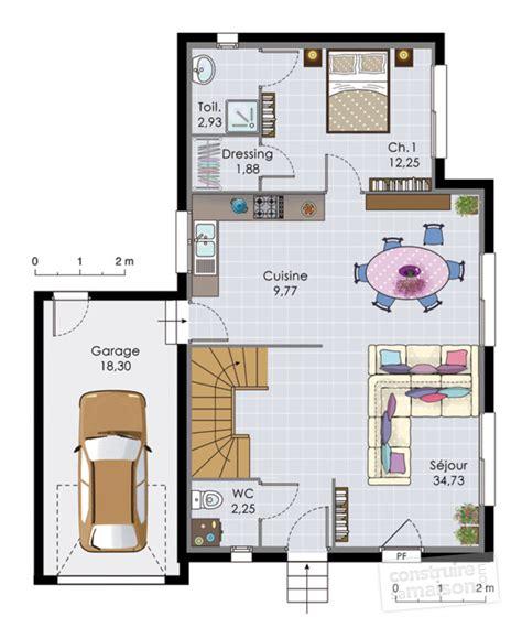 plan de maison a etage moderne plan maison 2 etages moderne