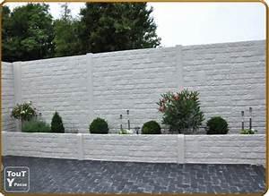 modele de rocaille de jardin 8 cloture de jardin beton With cloture jardin en beton