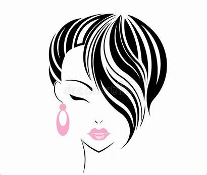 Hair Short Face Icon Background Vector Illustration