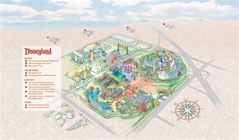 disneyland resort map in california map of disneyland