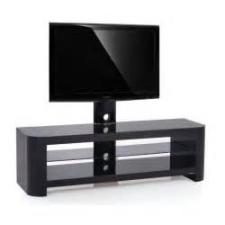 Meuble Tv Pour Ecran 55 Pouces meuble tv design noir crv 144h bb 32 55 pouces achat