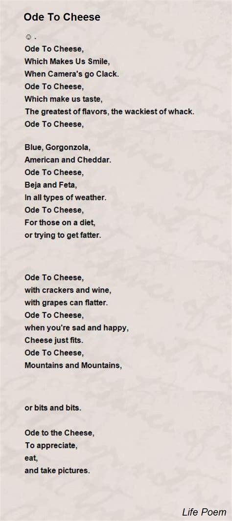 ode  cheese poem  life poem poem hunter