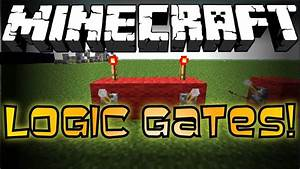 Minecraft Logic Gates Redstone Tutorial YouTube