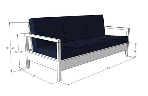 loveseat plans white simple white outdoor sofa diy projects