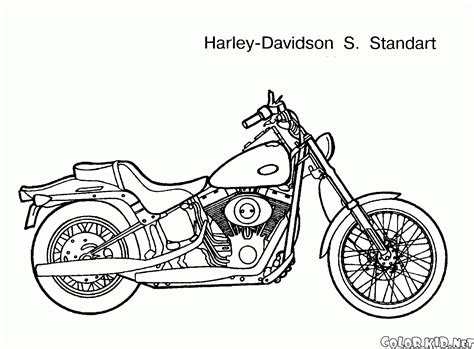 disegni da colorare harley davison