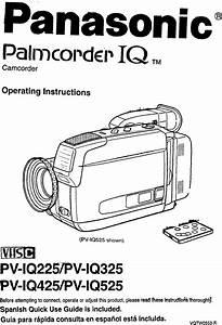 Panasonic Compact Vhs C Camcorder Manual 97100147