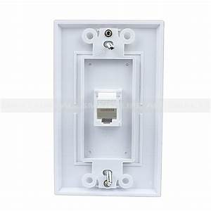 Easy Installation Rj45 Wall Plate Cat5e