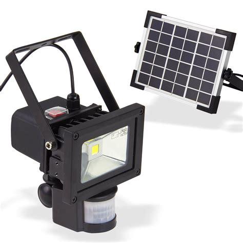 Led Solar solar led strahler 10 watt mit bewegungsmelder