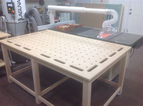 mftoutfeedclamping table woodworking shop layout