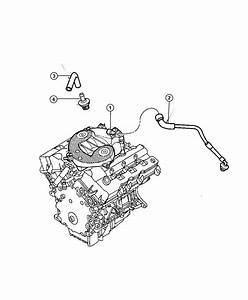 Chrysler Sebring Hose  Make Up Air  Ventilation  Crankcase