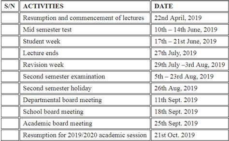delta state polytechnic ozoro dspz academic calendar