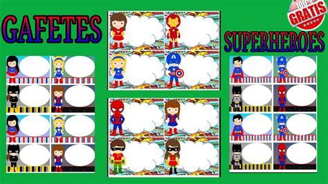 """Hermoso diseño de """"Gafetes de Superheroes"""" Mi Salón de"""