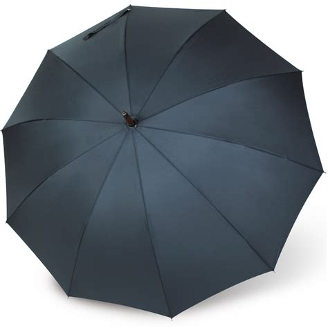 mens leather crook handle umbrella telde  vogue