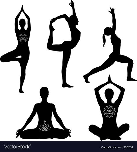 We have a huge range of svgs products available. Yoga poses icon set Royalty Free Vector Image - VectorStock