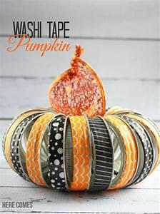 Washi Tape Pumpkin Here Comes The Sun