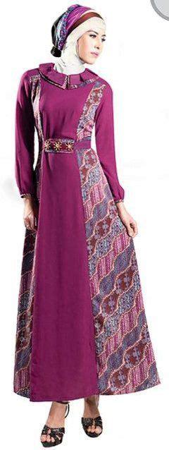 abaya maxi dress terbaru model baju gamis batik kombinasi terbaru trend baju