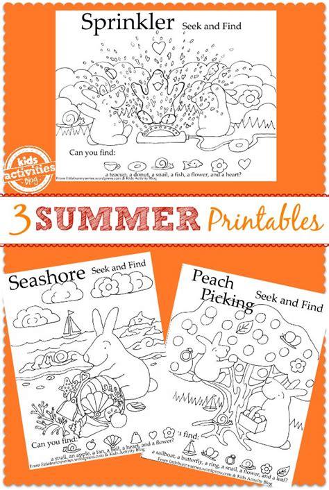 3 {Fun in the Sun} Kids Printables | Printables kids ...