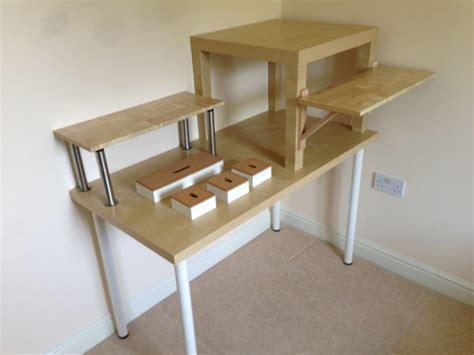 sit stand desk reddit ikea linnmon desk hack hostgarcia