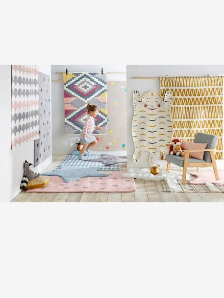 kinderzimmer teppich blau vertbaudet kinderzimmer teppich mit rautenmuster in t 252 rkis blau