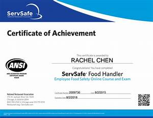 rachel chen visualcv With servsafe certificate template
