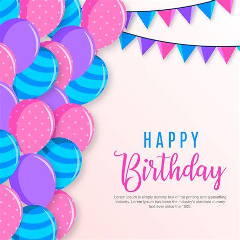 happy birthday background   vectors clipart