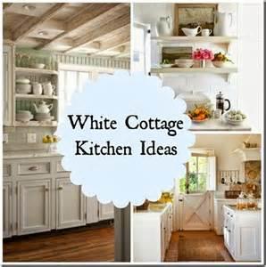 white cottage kitchen ideas kitchens - Small Country Kitchen Decorating Ideas