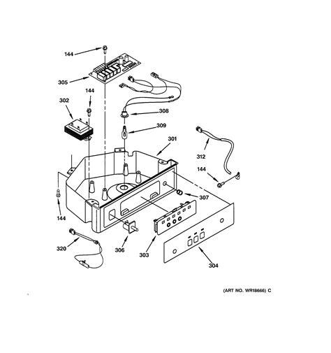 ge zdicwwl freestanding ice maker parts sears partsdirect