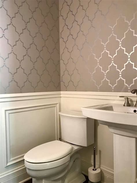 wallpaper stencils bathroom ideas marrakech trellis