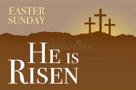 easter sunday holy week sunrise card stock illustration image