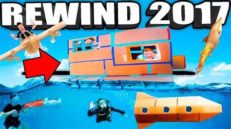 Papa Jake Youtube Rewind 2017!! 🔥 Box Forts, Nerf, Toys