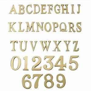 15 2 inch self adhesive numbers letters polished With brass letters 1 inch