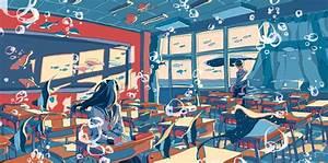 Anime Original Girl Boy Classroom School Uniform Wallpaper