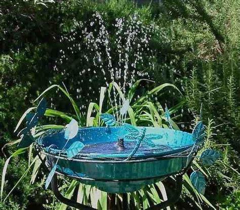solar fountain bird bath deck mountground  birdhouse
