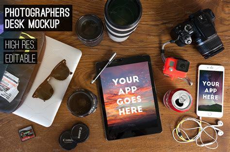 photographers desk mockup pack  templates