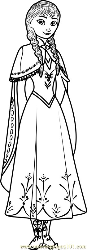 cute anna coloring page  frozen coloring pages