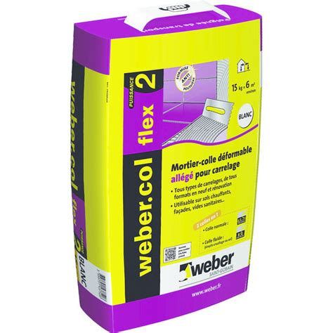mortier colle all 233 g 233 pour carrelage weber
