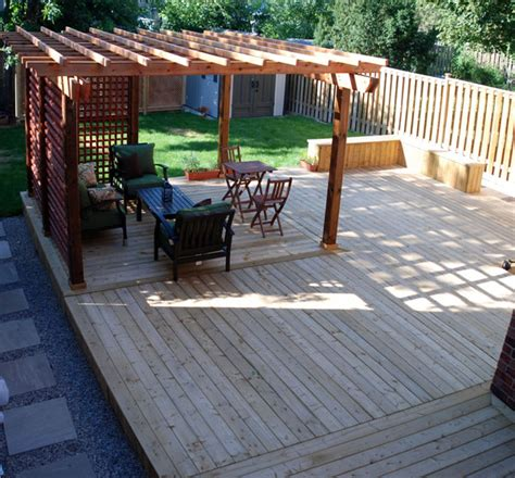 woodwork diy wood deck  plans