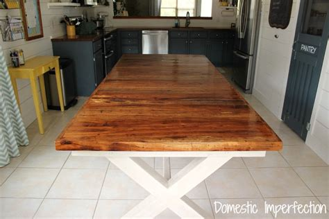 kitchen island that seats 4 pecan farmhouse dining table domestic imperfection