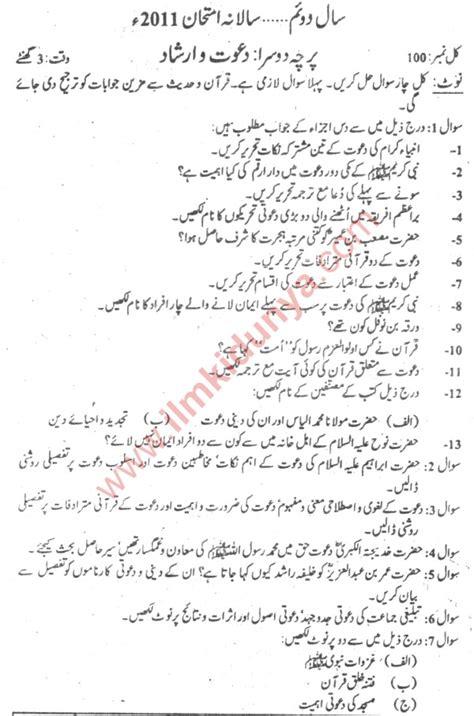 papers  punjab university ma islamiat part