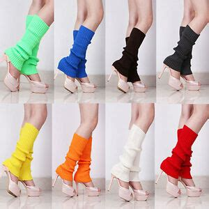 womens party leg warmers knitted neon dance  costume